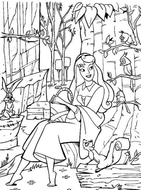 sleeping beauty coloring pages coloringpagescom
