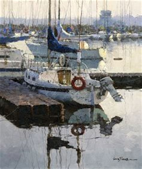 Boat Canvas Gibsons Bc by Artist To Kevin Macpherson A Well And