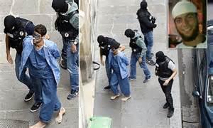 french train gunman ayoub el khazzani led  court surrounded  officers daily mail