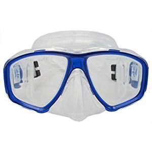 1 67 Prescription Rx Optical Amazon Com Scuba Blue Dive Mask Farsighted Prescription