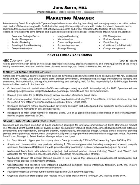 Marketing Manager Resume by Resume Sle For Marketing Director