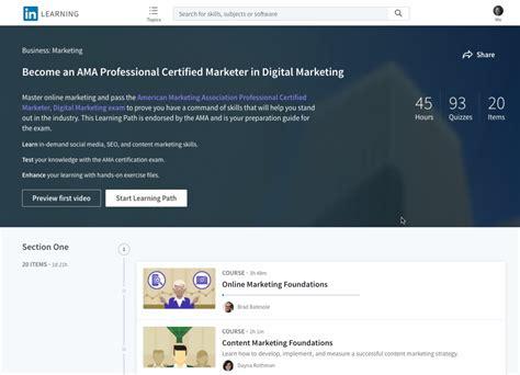 certified digital marketer program american marketing association and linkedin learning