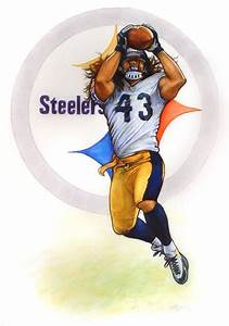 Pittsburgh Steeler Troy Polamalu Photo by eschutzman