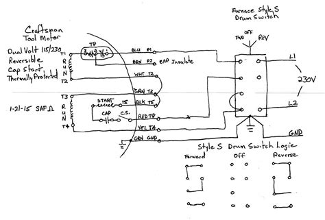 220v Schematic Wiring Diagram by Wiring A Single Phase Motor To Drum Switch Page 2