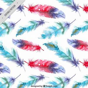 Watercolor feathers background Vector | Free Download