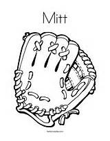 Coloring Mitt Glove Catch Pages Sox Sports Ball Boston Template Baseball Outline Printable Mit Worksheet Ll Catcher Bat Twistynoodle Noodle sketch template