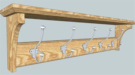coat rack  shelf plans woodworking projects plans