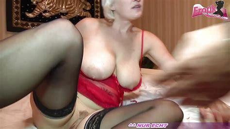 German Blonde Big Boobs Milf At Homemade Threesome Mmf
