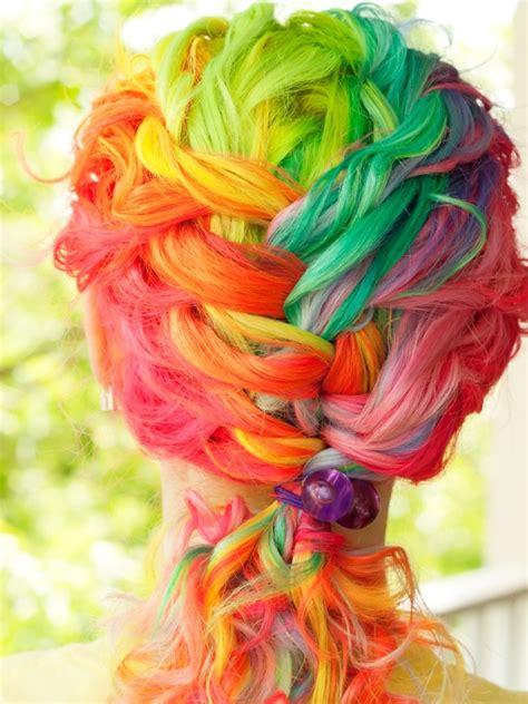 rainbow hair color rainbow hair