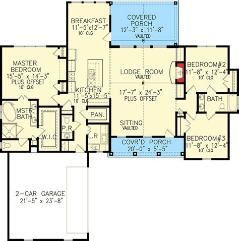 One Story House Plans With Large Kitchens by One Story Farmhouse Plan 25630ge Architectural Designs