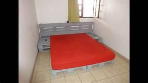 Comment Faire Un Lit En Palette : instructions sur la fa on de faire un lit avec des palettes youtube ~ Nature-et-papiers.com Idées de Décoration