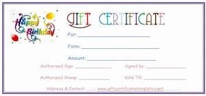 simple balloons birthday gift certificate template With birthday cheque template