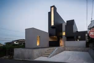 home architect design hillside quot scape house quot disclosing a surprising geometry in shiga freshome com