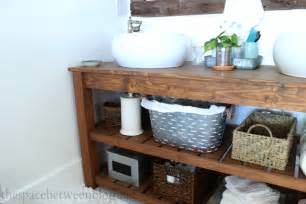 Diy Rustic Bathroom Vanity Plans by Ana White Diy Wood Vanity Feature By The Space Between