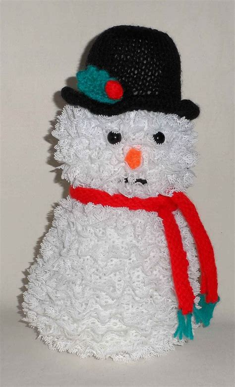 lainesworld christmas craft project knitted snowman