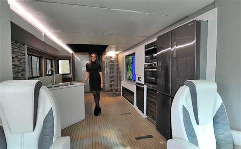 national rv trade show  furrion   elysium futuristic class  motorhome aboutcamp