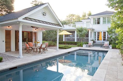pool house designs with outdoor kitchen 25 pool houses to complete your backyard retreat 9146