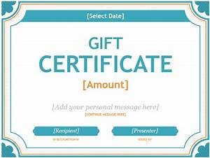 20 printable gift certificates certificate templates for Word templates gift certificates