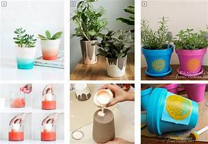 Pot Fleur Plastique : diy customiser des pots de fleurs en terre bnbstaging ~ Premium-room.com Idées de Décoration