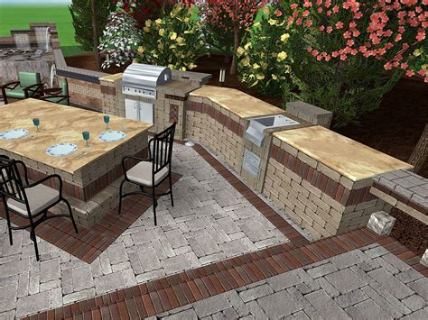 landscape design with pavers backyard scaping march 2015
