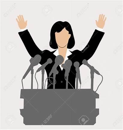 Clipart Politicians President Woman Podium Politics Politician