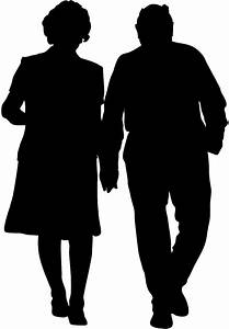 Grandparents Silhouette | Free vector silhouettes