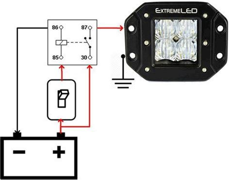 Wiring Diagram For Relay Light Bar by Led Light Bars