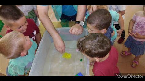 Eksperiment sa vodom / Eksperimenti za decu u vrtiću - YouTube