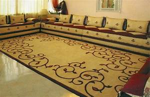 salon moderne oriental d39inspiration marocaine With tapis jonc de mer avec canape angle oriental