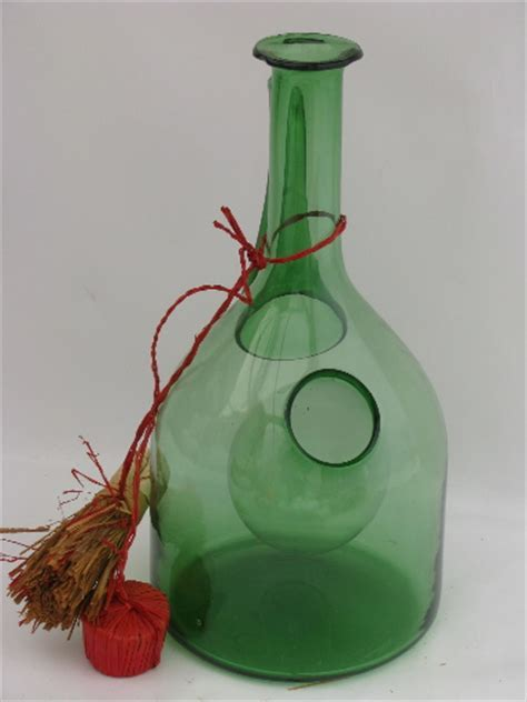 Retro 60s 70s vintage hand blown Italian glass wine cooler