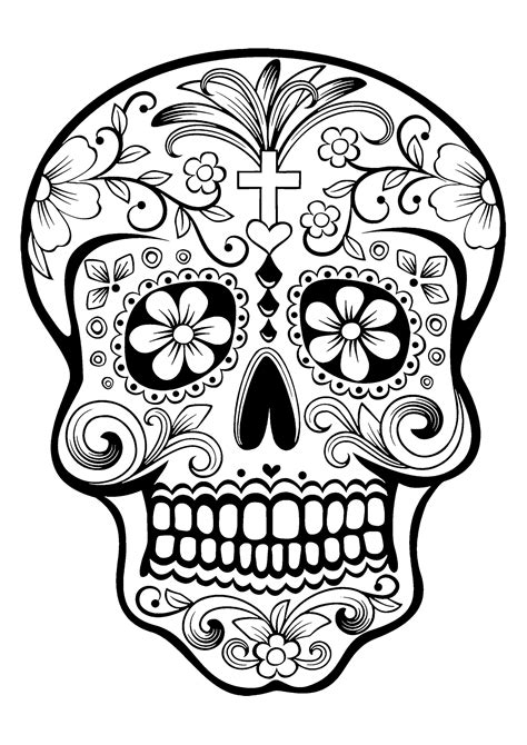 Skull Coloring Pages For Adults