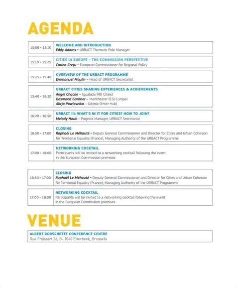 event agenda template top 5 best event agenda templates