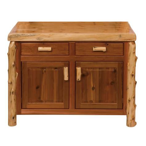 48 Inch Sideboard by Cedar Log Buffet 48 Inch