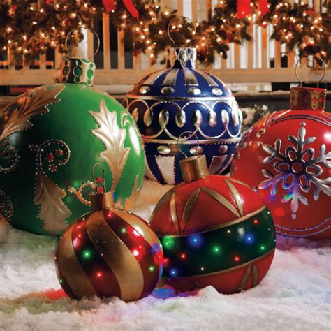places that sell big christmas lutside balls ornaments pictures photos and images for and