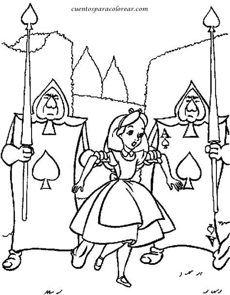 dibujos  colorear alicia disney