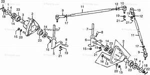 Honda Atv 1977 Oem Parts Diagram For Front Wheel Hub