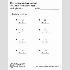 Third Grade Multiplication Worksheet