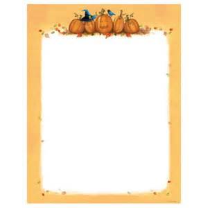 Fall Pumpkin Border Paper