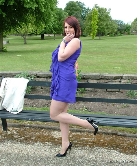 demi is looking fine in her short blue dress and gorgeous high heels stockings girdles