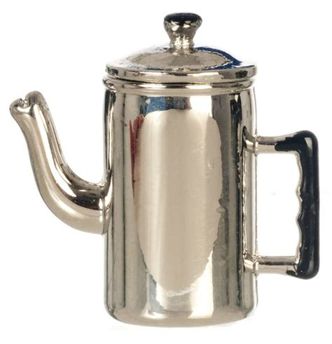 Tips to save money with old coffee maker how to use offer. Dollhouse Miniature Old Fashioned Metal Coffee Pot w/ Removable Lid 760999560724 | eBay