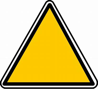 Caution Clip Clipart Triangle Danger Warning Clker