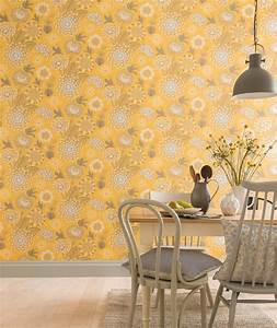 Arthouse Vintage Bloom Mustard Yellow Wallpaper 676206