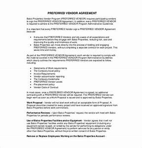 Vendor agreement for Preferred vendor agreement template