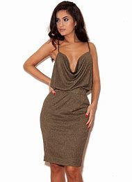Plus Size Metallic Dress Bronze