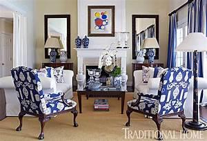 A Home for Elegance: Home Tour ~Dennis Basso's Blue