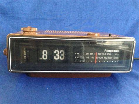 Bedroom Alarm Clock Radio by 1970 S Panasonic Rc 6030 Flip Tile Wood Grain Am Fm
