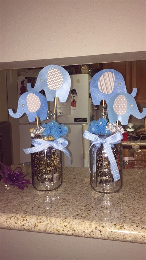 elephant baby shower center piece baby shower ideas