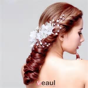 vidã o de mariage coiffure de mariée en dentelle fleur tete accessoires de cheveux de mariage bijoux de