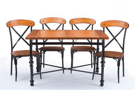 baxton studiobroxburn light brown wood metal dining