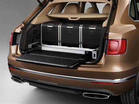 2017 Bentley Bentayga Detail Photo Trunk Space Size